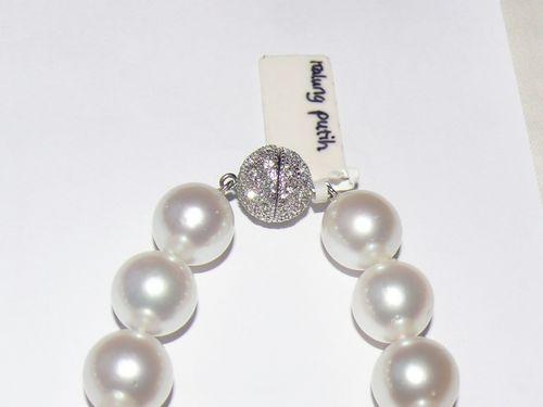 Kalung Mutiara Putih perak, platinum